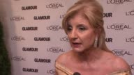 Arianna Huffington on failure and following your dreams at the GLAMOUR Magazine's 21st Annual Women Of The Year Awards at New York NY