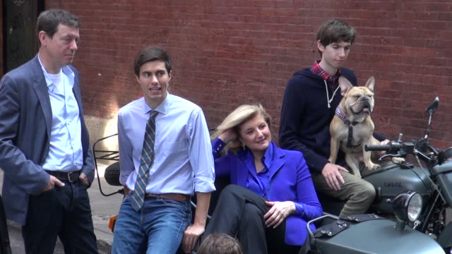 Arianna Huffington on the photo shoot set of photographer Annie Leibovitz in New York 07/30/12