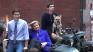 Arianna Huffington on the photo shoot set of photographer Annie Leibovitz in New York 07/30/12