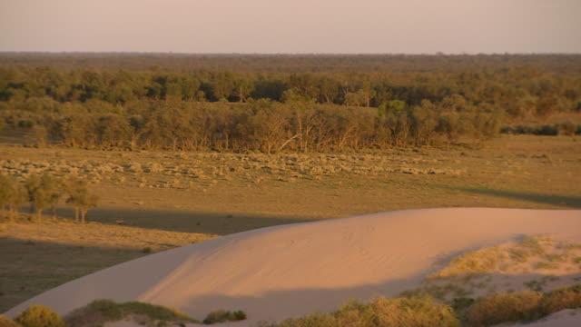 WS PAN Arid landscape at Mungo national park / Mungo Nationalional Park, New South Wales, Australia