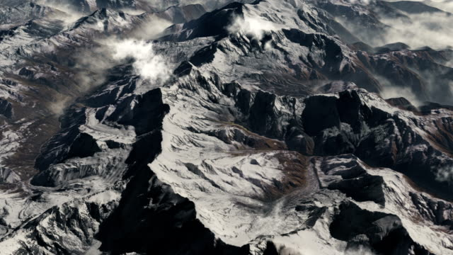 Ariel view over the Himalayas.
