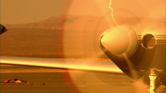CU, USA, Arizona, Grand Canyon, Spinning Lancair Legacy propeller
