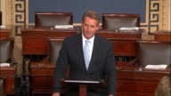 Arizona Senator Jeff Flake defends the North American Free Trade Agreement known as NAFTA as having a great positive influence on the economy of his...