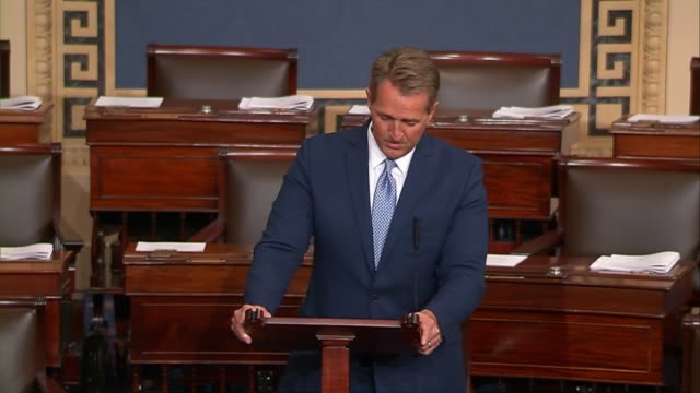 Arizona Senator Jeff Flake says on the floor that he is aware of a segment of the Republican Party that considers anything short of complete and...