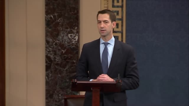 Arkansas Senator Tom Cotton says that presiding in the Senate One is to listen to other Senators and he enjoyed the privilege of listening to the...