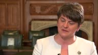London Westminster INT Arlene Foster MLA interview SOT re meetings with Theresa May