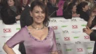Arlene Phillips wearing a dress created from homeopathic remedies at National Television Awards 2016 on January 19 2016 in London England