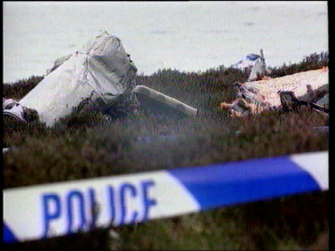 Chinook contract controversy LIB SCOTLAND Mull of Kintyre EXT GVS aftermath of Chinook helicopter crash in which senior antiterror experts on...