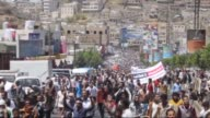 Armed group members from Yemen's Houthi movement opened fire to disperse an antiHouthi demonstration and 1 killed 10 injured by Houthi gunfire in...