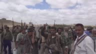 Armed members of People's Committee patrol and take security measures near the city border of Lahij located between Ta'izz and Aden to prevent a...