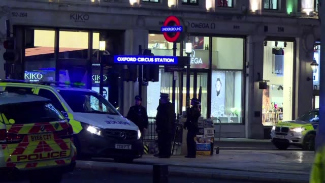 Armed police rush to London's busy Oxford Street shopping district after reports of shots fired sparked fears of a terror incident but authorities...