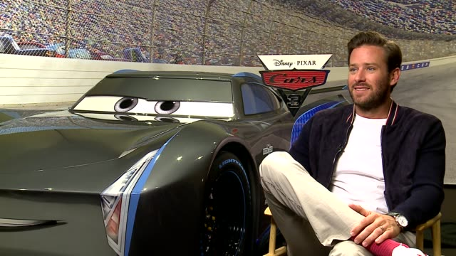 INTERVIEW Armie Hammer at 'Cars 3' Junket on June 13 2017 in Los Angeles California