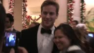 Armie Hammer Elizabeth Chambers greet fans at the American Cinematheque 27th Annual Awards in Beverly Hills in Celebrity Sightings in Los Angeles...