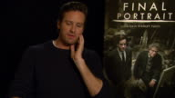 INTERVIEW Armie Hammer on Alberto Giacometti at Berlin Film Festival 'Final Portrait' Interviews at Berlinale Palast on February 11 2017 in Berlin...