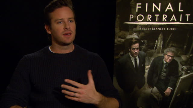 INTERVIEW Armie Hammer on being involved in the creative process at Berlin Film Festival 'Final Portrait' Interviews at Berlinale Palast on February...