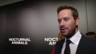 """INTERVIEW Armie Hammer on his initial reaction to the script his favorite part of working with Tom Ford at """"Nocturnal Animals"""" Los Angeles Special..."""