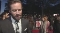 INTERVIEW Armie Hammer on making new friends Brighton guns fights being a poor shot at LFF 'Free Fire' Closing Night Gala BFI London Film Festival at...