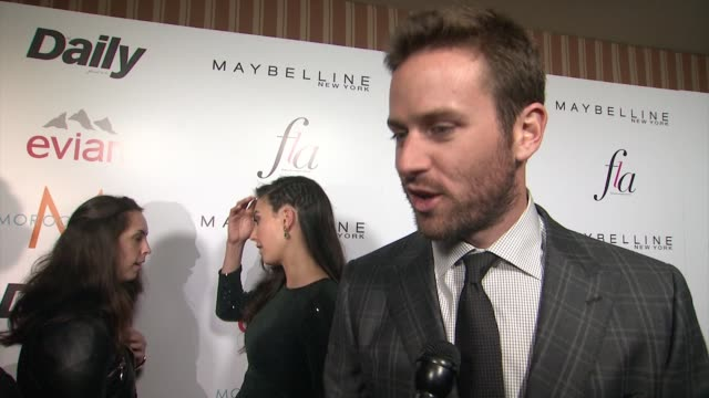 INTERVIEW Armie Hammer on why it was important to him to be present for his stylist at The Daily Front Row Presents First Annual Fashion Los Angeles...
