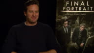 INTERVIEW Armie Hammer on working in Europe at Berlin Film Festival 'Final Portrait' Interviews at Berlinale Palast on February 11 2017 in Berlin...