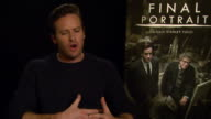 INTERVIEW Armie Hammer on working with Stanley Tucci at Berlin Film Festival 'Final Portrait' Interviews at Berlinale Palast on February 11 2017 in...