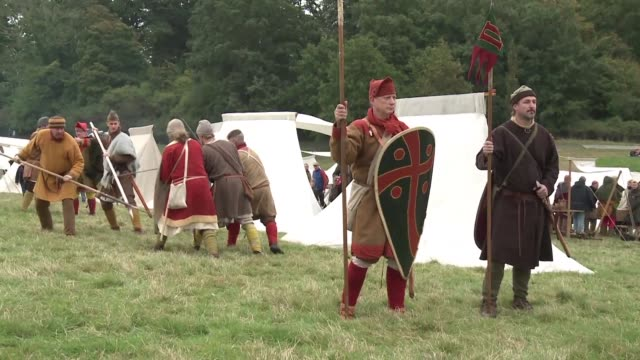 Armies of enthusiasts gather to reenact the 1066 Battle of Hastings marking the 950th anniversary of when William the Conqueror's Normans from France...