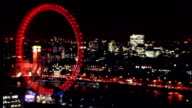 anniversary services held throughout the country ENGLAND London London Eye lit up in red as mark of respect for war dead on Armistice Day