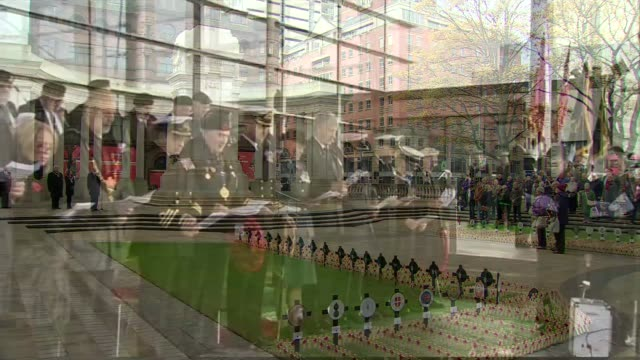 Ceremonies held around the UK to commemorate NORTHERN IRELAND Belfast EXT People gathered in silence at Field of Remembrance as 'The Last Post' is...