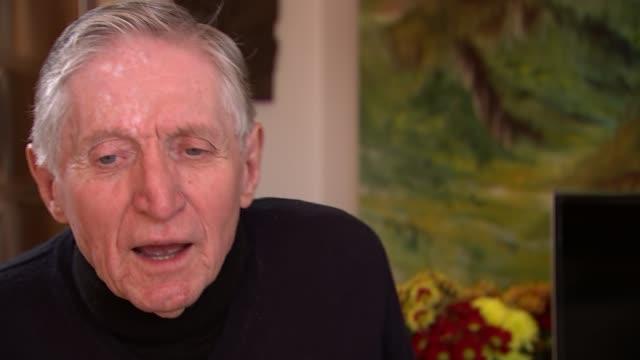 Maida Vale war veteran awarded France's highest honour ENGLAND London INT Bill Mitchell interview SOT