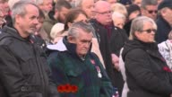 Armistice Day marked SCOTLAND Glasgow EXT Members of public stand for minute's silence at Armistice Day ceremony