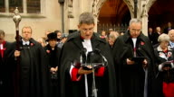 Prince Philip visit to Westminster Abbey Dr John Hall leading prayers SOT Reverend Andrew Tremlett makes dedication and prayers SOT Prince Philip...