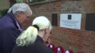 Armistice Day Woolwich memorial plaque unveiled Fusilier Lee Rigby amongst those honoured Raymon and Yvonne Bonnett in grounds of St George's...