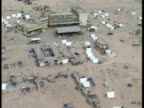 US army and refugees camps on the IraqKuwait border Sky News First Gulf War Footage on April 15 1991 in Safwan Iraq