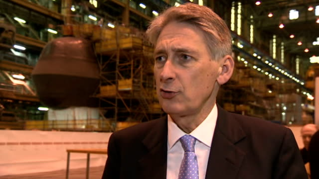 Army bullying Defence Secretary announces new Ombudsman Cumbria BarrowinFurness BAe Systems Philip Hammond MP delivering speech to BAe Systems...