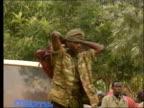 Army chief faces UN tribunal LIB Members of the Hutu militia who fled the Rwanda
