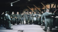 Army recruits training against chemical warfare in gas chamber / Fort Leonard Wood Missouri United States