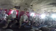 S Army Soldiers wounded in Afghanistan sit in a helicopter during a flight to Forward Operating Base Fenty on March 12 2014 near Bagram Afghanistan...