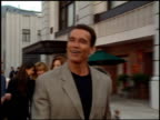 Arnold Schwarzenegger at the 'Bridges of Madison County' Premiere at Warner Brothers Lot in Burbank California on May 30 1995