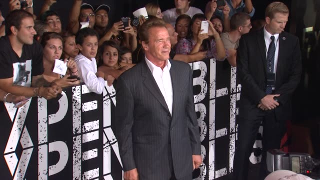 Arnold Schwarzenegger at The Expendables 2 Los Angeles Premiere on 8/15/12 in Hollywood CA
