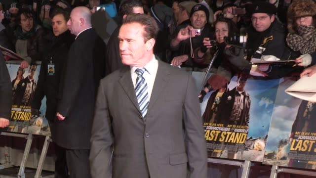 Arnold Schwarzenegger at 'The Last Stand' UK Premiere at Empire Leicester Square on January 22 2013 in London England