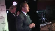 Arnold Schwarzenegger at The Spectator Cigar Smoker of the Year Awards on 16th November 2014 in London England
