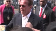 Arnold Schwarzenegger at the Terminator Genisys Premiere in Hollywood in Celebrity Sightings in Los Angeles