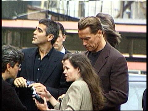 Arnold Schwarzenegger to visit SK Sturm Graz LIB London Battersea Power Station MS actors George Clooney and Arnold Schwarzenegger at launch of film...