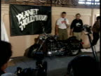Arnold Schwarzenegger unveils the new Terminator 2 motorcycle for the press
