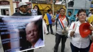 Around 50 people protested outside the British Embassy in Quito on Sunday demanding that Britain allow WikiLeaks founder Julian Assange to leave the...