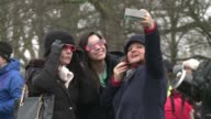 Around 500 people gathered in London's Regent's Park under an overcast sky Friday hopeful of a glimpse of the partial eclipse as it moved across...