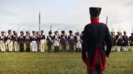 Around 5000 historical reenactors will amass this evening to stage the 1st battle reenactment the 'French attack' in front of around 200000...