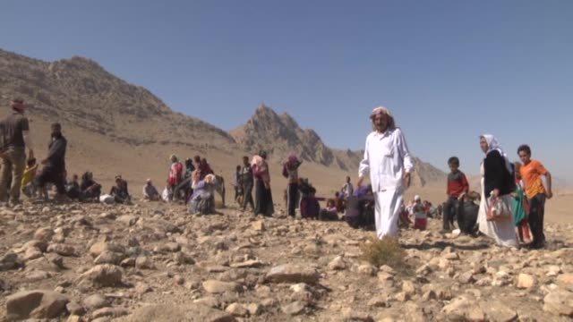 Around Sinjar as Ezidis fled Daesh militants to take refuge in the mountains on August 18 2014 Ezidis fled from Daesh attacks and take shelter in...