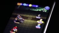 Arranged close shot the application icon for the Final Fantasy Record Keeper smartphone game codeveloped by Square Enix Co and DeNA Co center is...