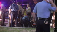 KTVI Arrests Outside Of Ferguson Police Station Following Brawl After Police Chief Thomas Jackson Enters Station on September 26 2014 in Ferguson...