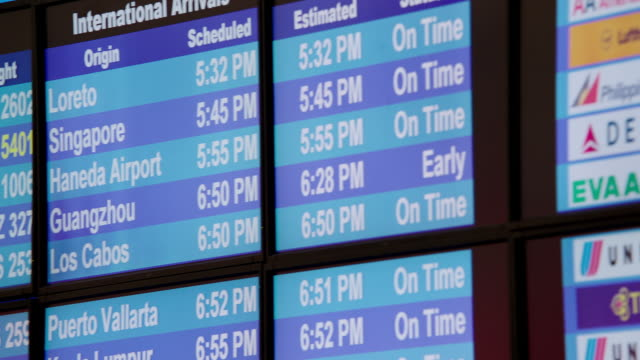 CU PAN Arrival departure board at LAX